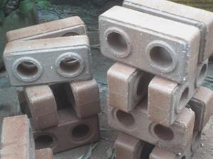 2. Blocos de solo e cimento
